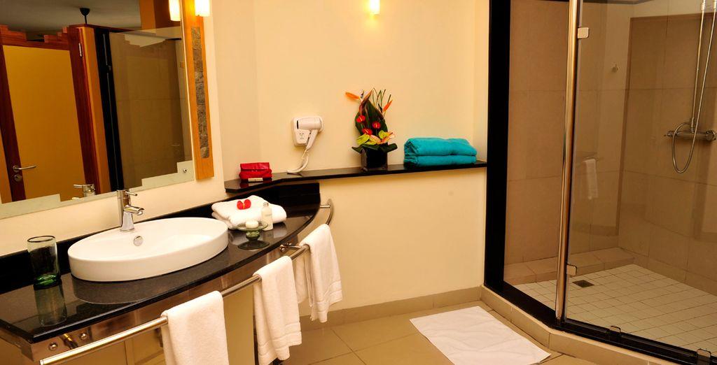 Baño privado completamente equipado