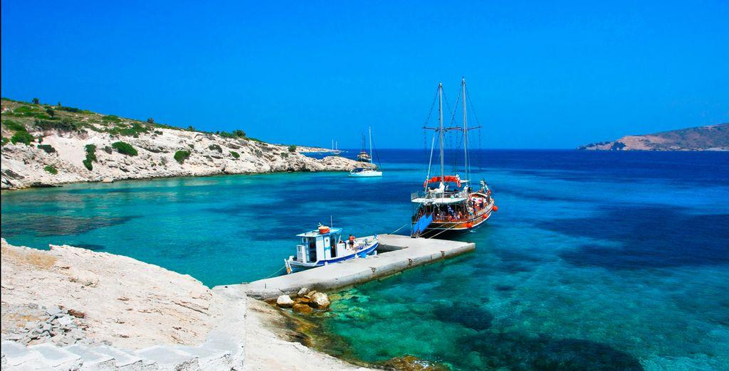 Disfrute de esta isla griega en pleno mar Egeo...