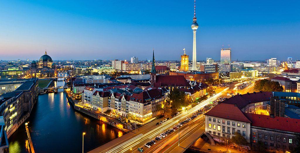 Vistas de la ciudad de Berlín desde Alexanderplatz