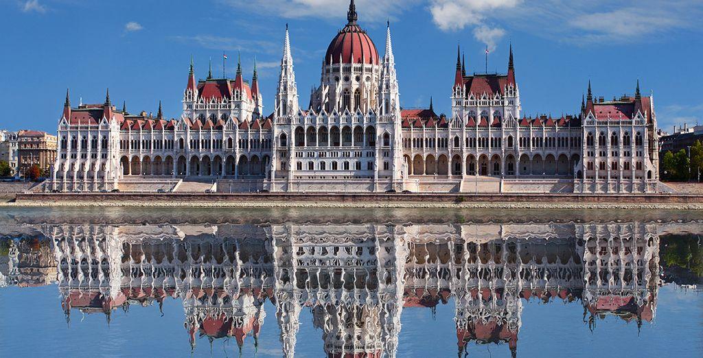 Las famosas casas del parlamento húngaro