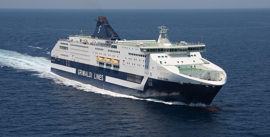 Embarque gratis su coche con Grimaldi Lines y empiece sus vacaciones de ensueño