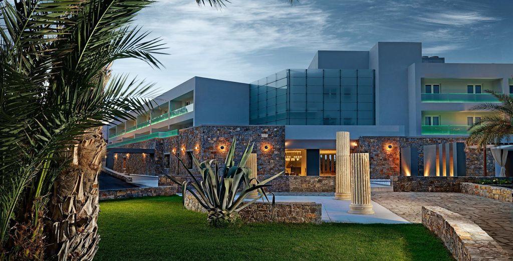Un hotel lujoso en una península pirvada