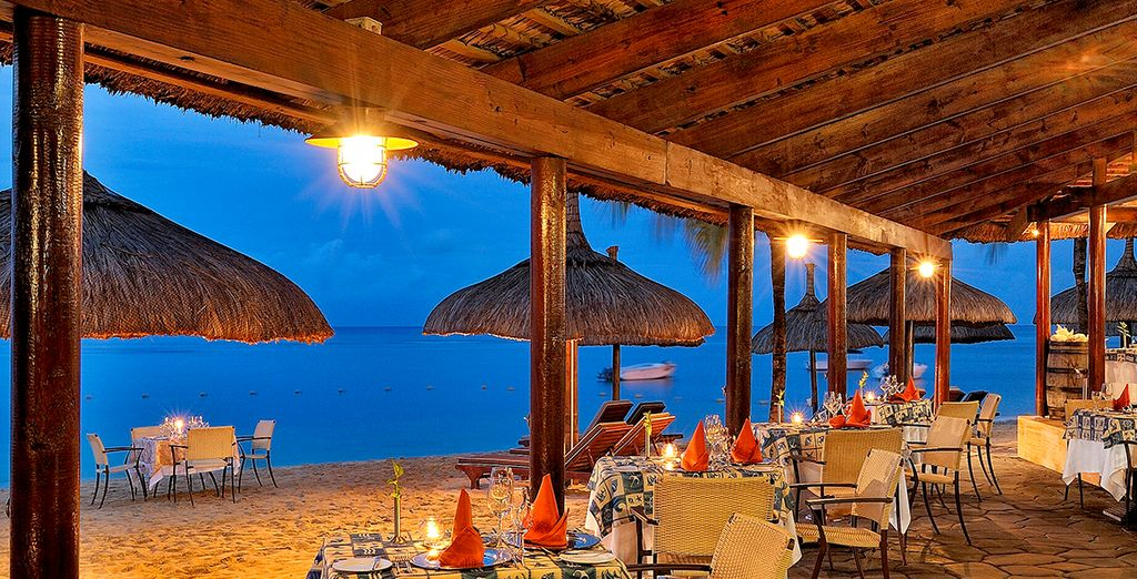 Cena en la playa y disfruta de la naturaleza