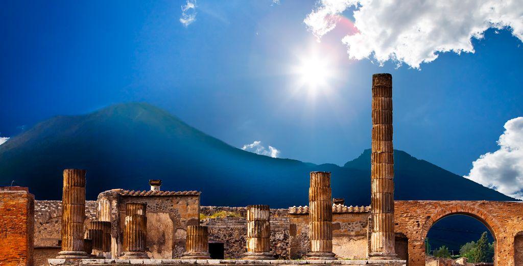... las ruinas de la ciudad de Pompeya