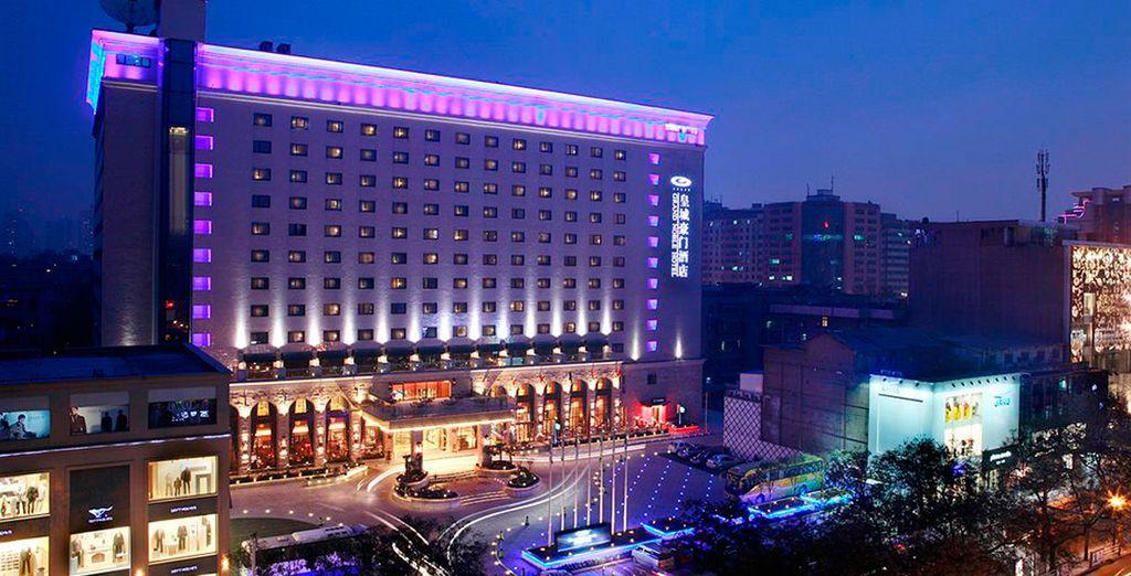 En Xian te alojarás en el Hotel Grand Noble 4*