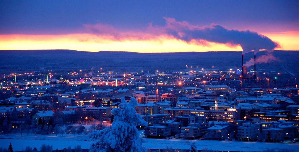La ciudad de Rovaniemi, lugar de llegada a Laponia