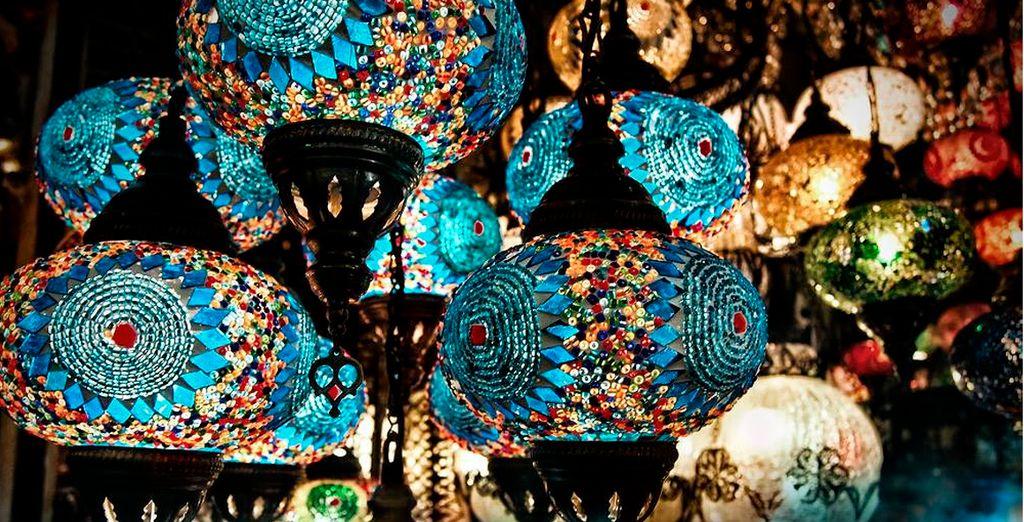 Detalles de estilo árabe en la decoración