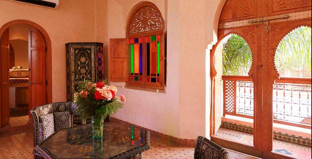 Interiores decorados con la autenticidad de la cultura marroquí