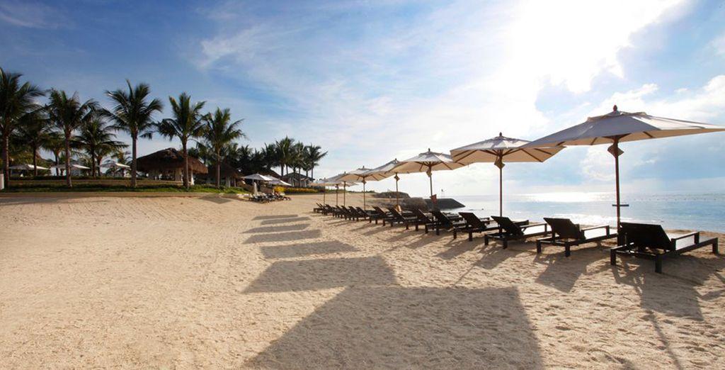 Disfrute de su playa privada y de un sinfín de actividades