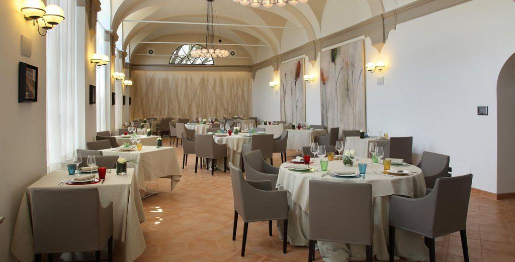 El restaurante sirve especialidades de Umbría