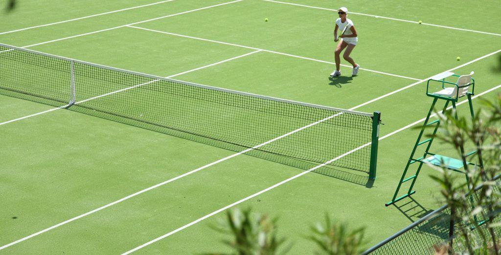 Los amantes del deporte podrán usar la pista de tenis