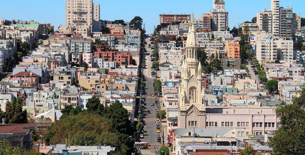 Las inclinadas y conocidas calles de San Francisco