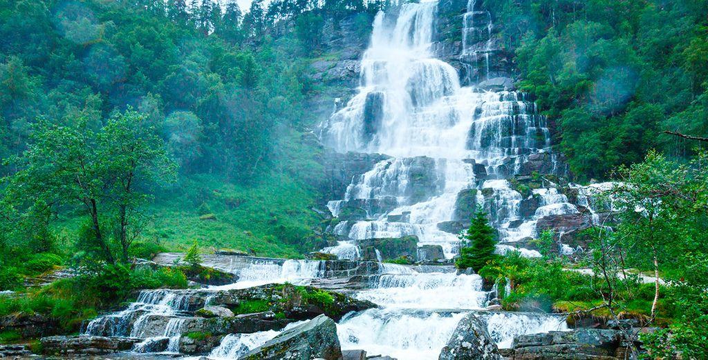 La cascada de Tvindefossen