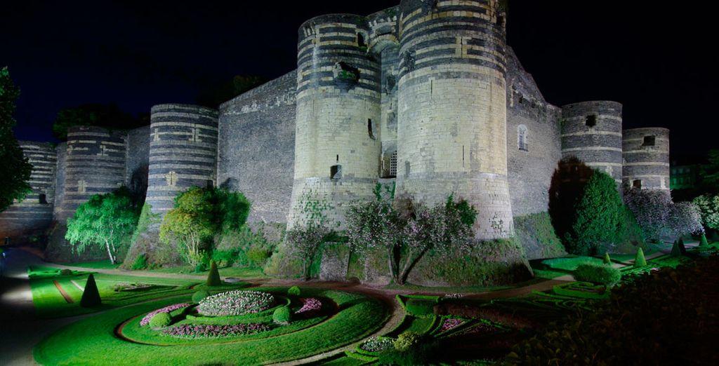 Angers, antigua capital de Anjou, que está clasificada como patrimonio de la UNESCO