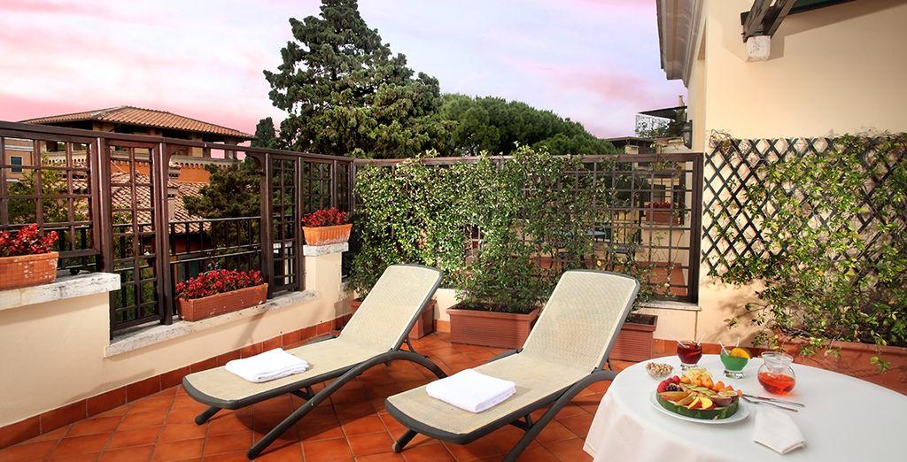 Relájate en la azotea del Hotel Degli Aranci 4*
