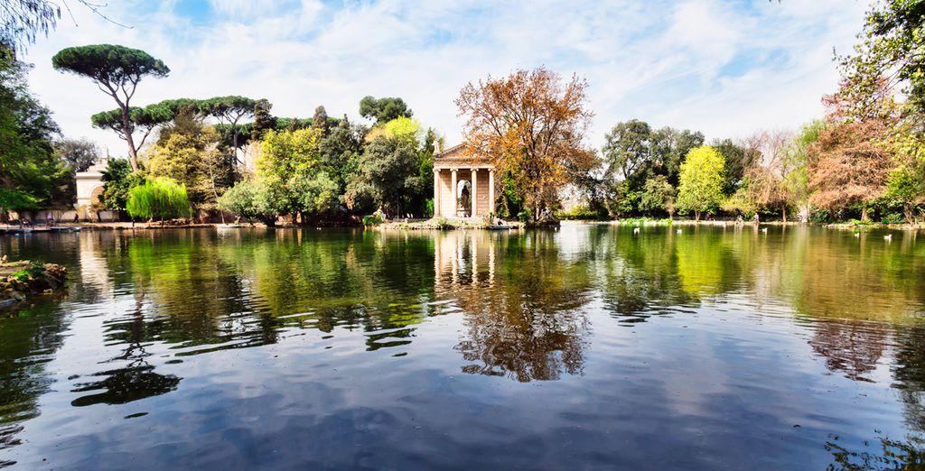 Admira la belleza de los jardines de Villa Borghese