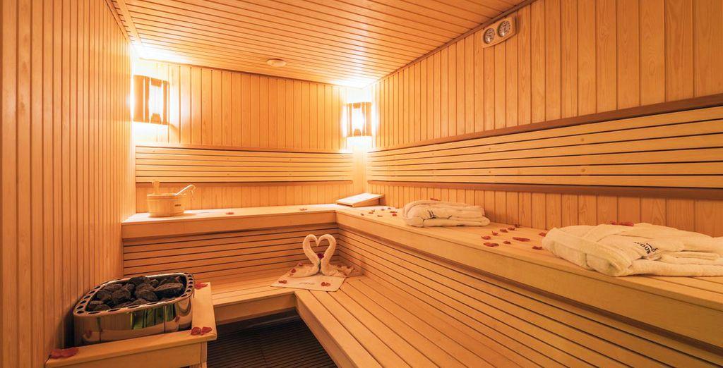 ...con hammam y sauna