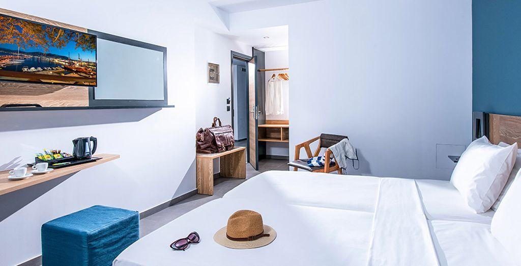 Descansa en tu confortable y acogedora habitación