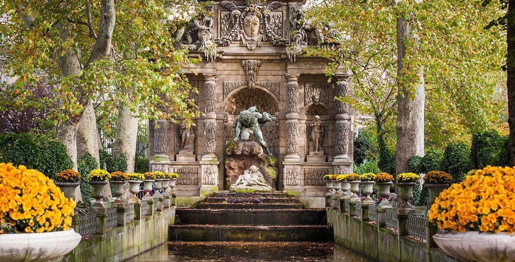 Da un paseo por los jardines de Luxemburgo ...