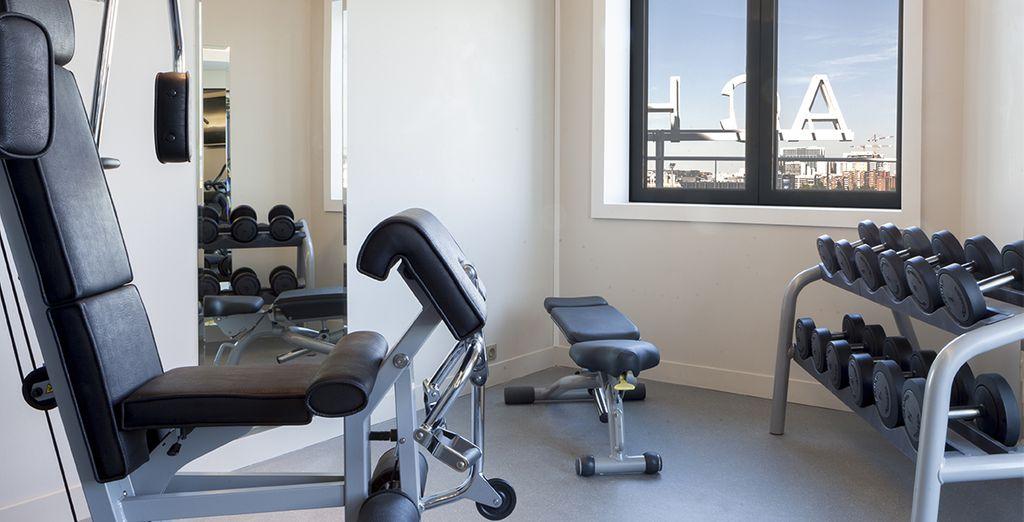 El hotel pone a tu disposición sala de fitness