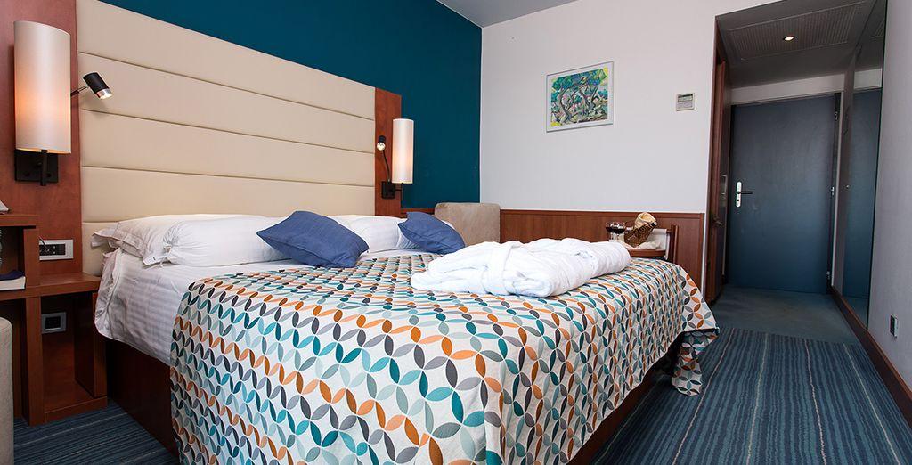 Escoge descansar en la habitación Confort...