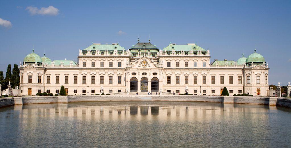 Admira el estilo barroco del Palacio de Belvedere