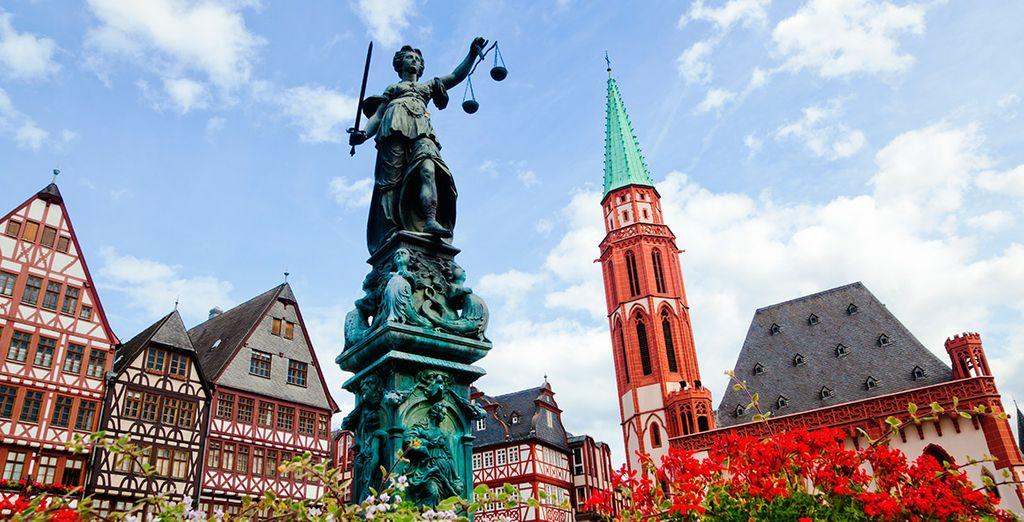 El sexto día conocerás la ciudad de Frankfurt