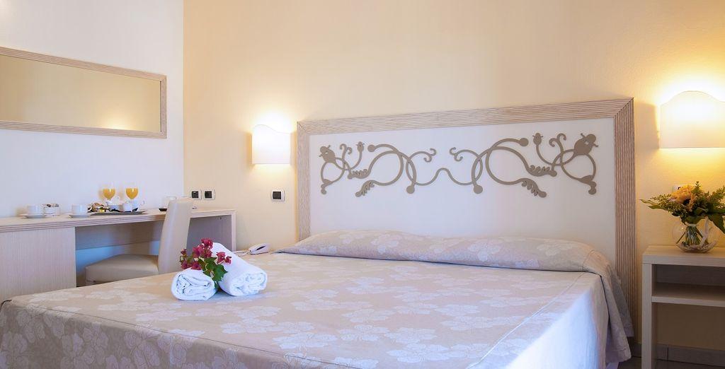 Te alojarás en una fantástica habitación Classic con vistas al jardín