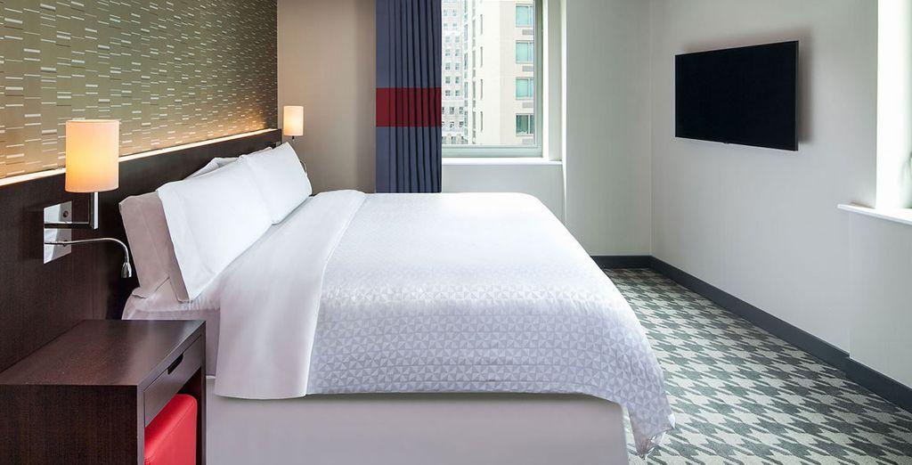 Descansaras en una cómoda habitación