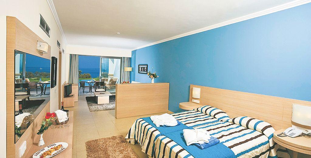 Elige una Junior Suite para descansar con todas las comodidades