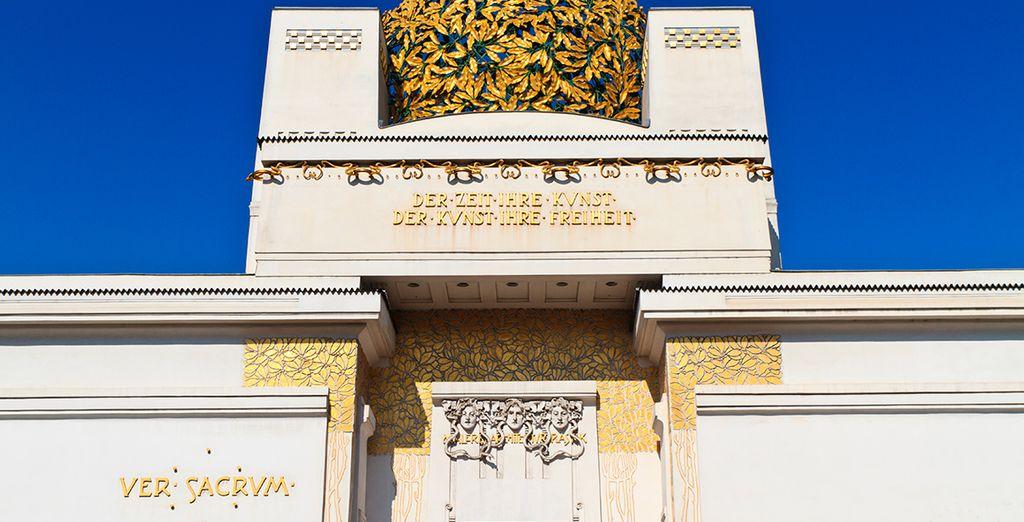 El edificio de la Secesión Vienesa, el hermoso Art Nouveau de principios del siglo XX