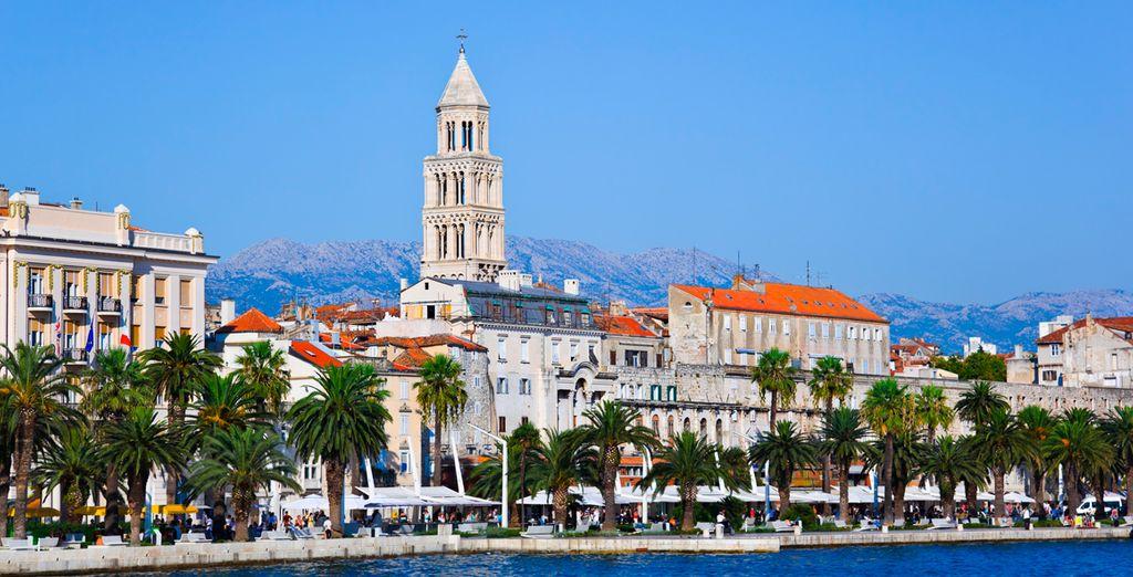 Split, capital de Dalmacia y ciudad costera animada llena de buen ambiente y opciones de ocio