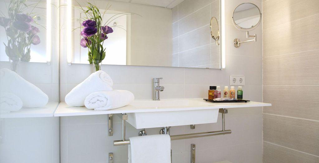 Y con baño propio, moderno y cómodo