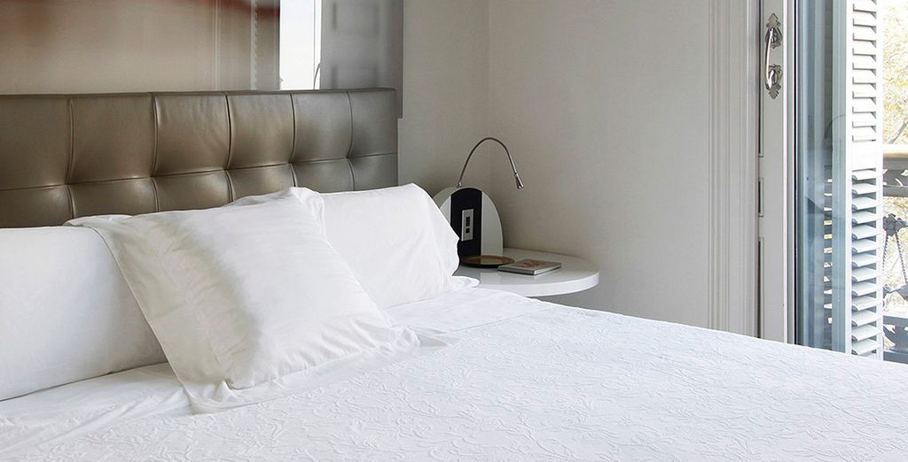 Uno de los dormitorios dispone de terraza con vistas