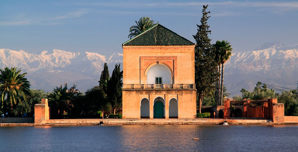Visita la Menara y sus majestuosos jardines