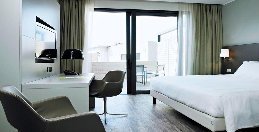 Te alojarás en una fantástica habitación Deluxe