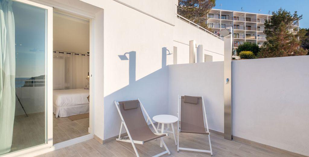 ... y con una bonita terraza privada