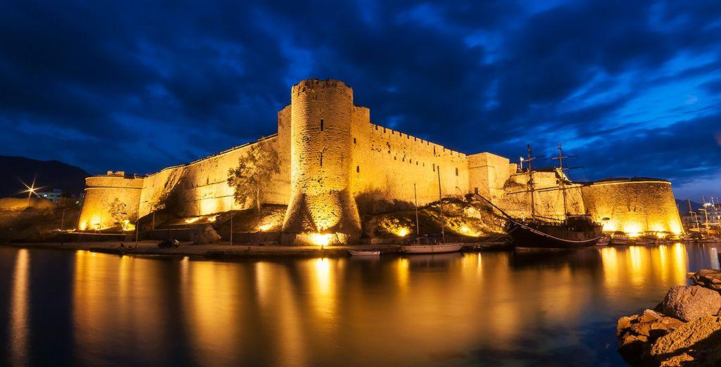 El castillo de Girne fue residencia de verano de la dinastía Lusignian