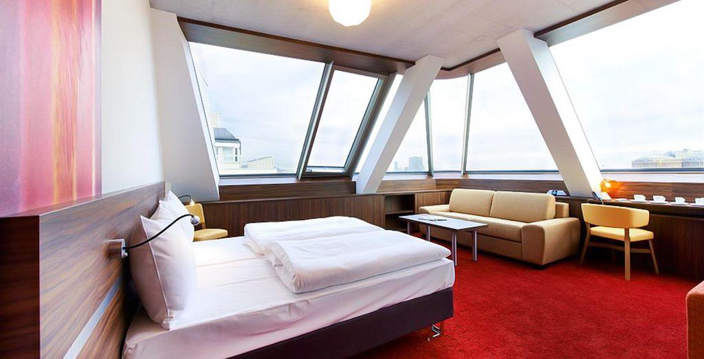 ¡Te alojarás en una habitación Comfort Plus!