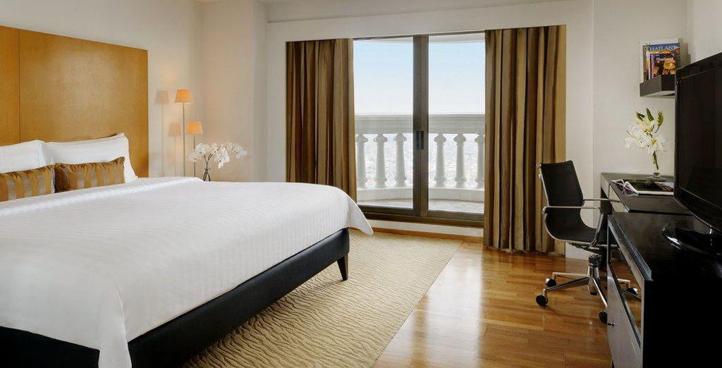 Las habitaciones son espacios amplios ideales para el descanso