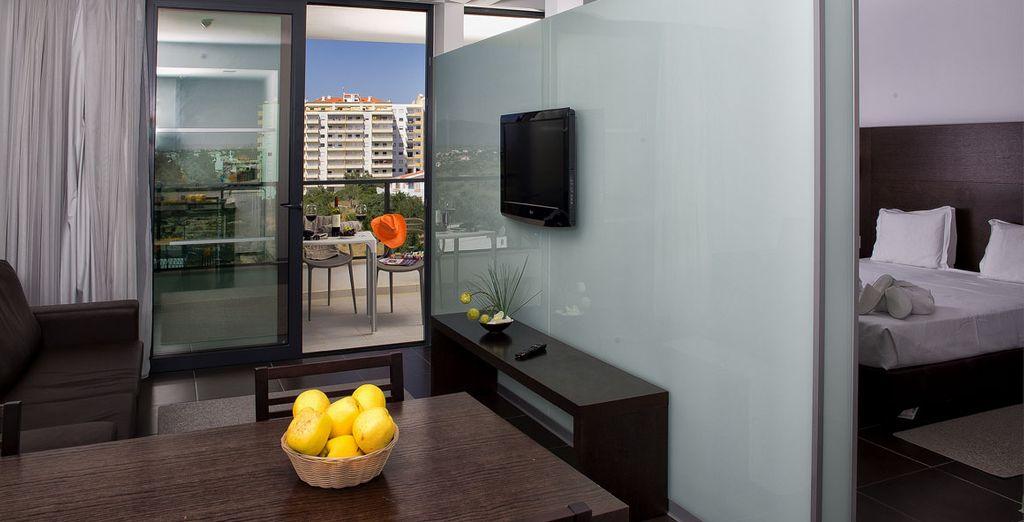Bienvenido a tu Suite Prestige, un alojamiento completo para tu estancia