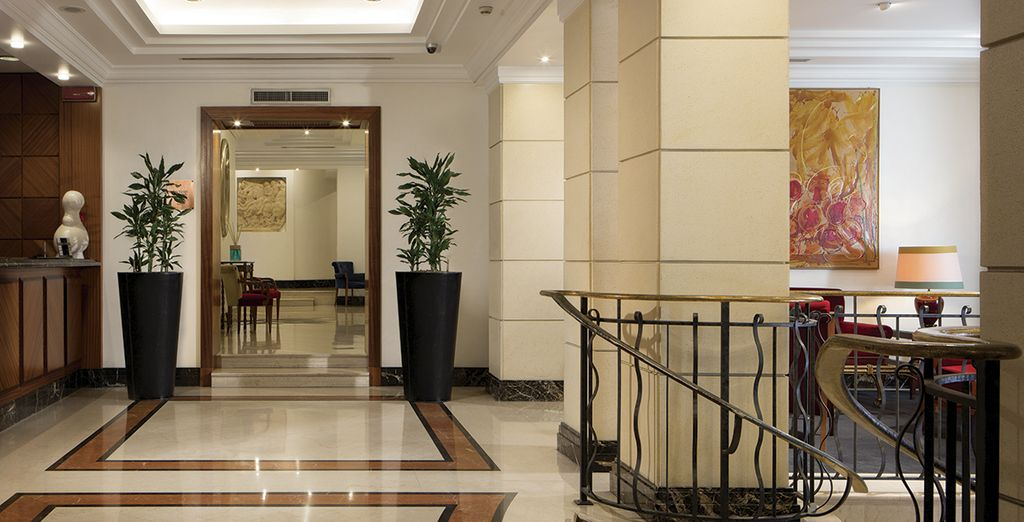 El estilo de este hotel es elegante y distinguido