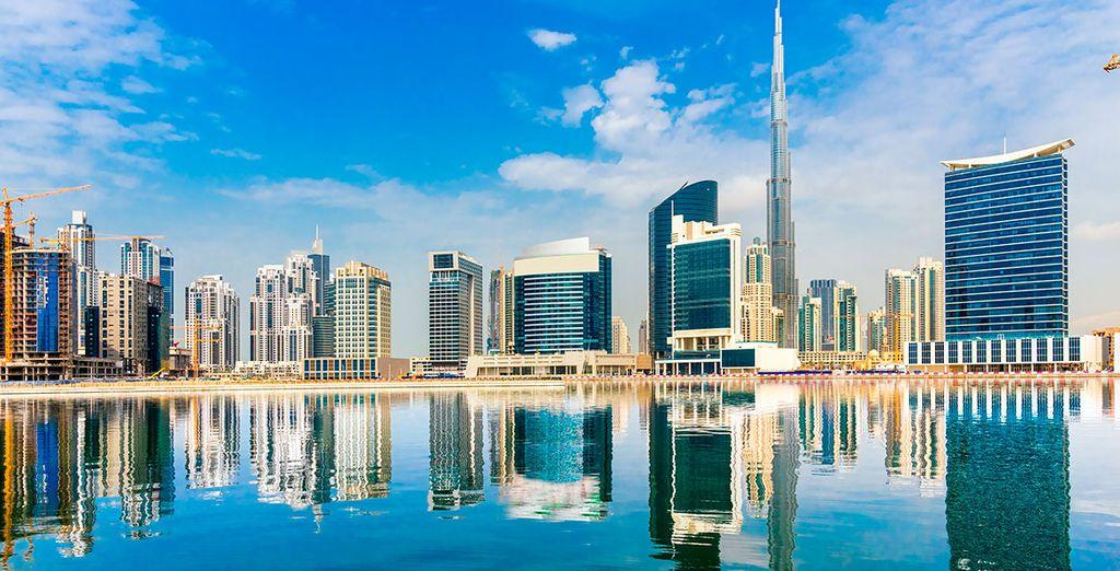 El espectacular skyline de la ciudad emiratí
