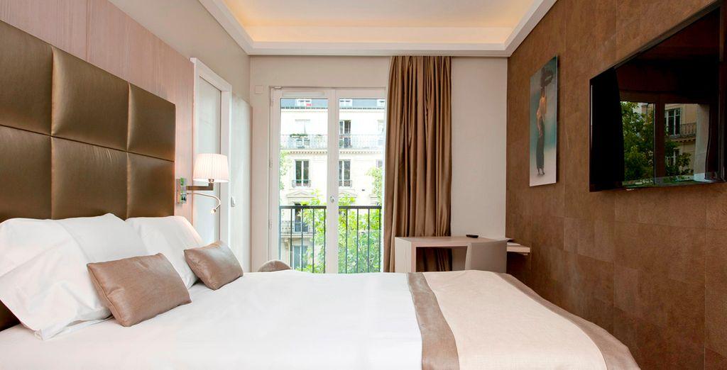 Una de las opciones para tu alojamiento es esta elegante habitación Superior