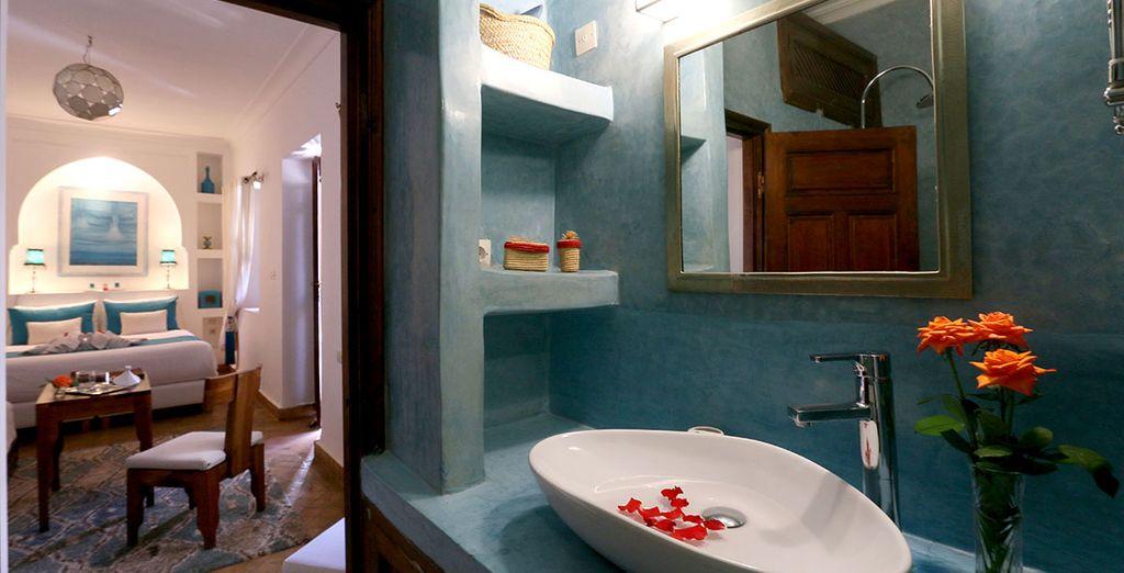 Baño privado de la habitación L'eau