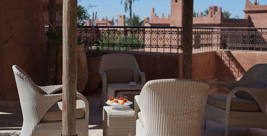La terraza es un lugar fantástico para descansar acompañado de tu bebida favorita