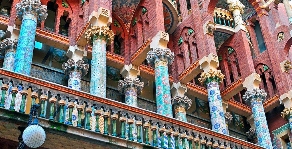 El Palau de la Música es un bello ejemplo de la arquitectura modernista