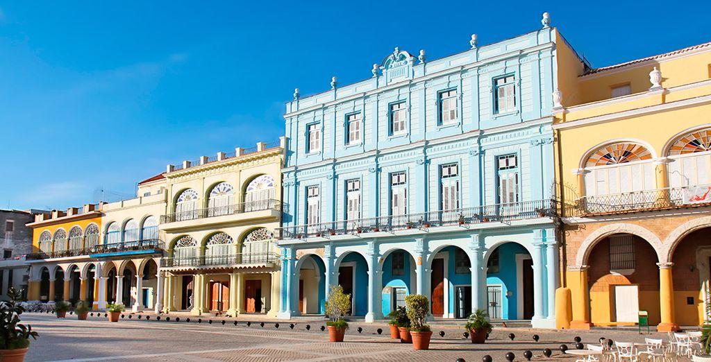La Plaza Vieja, uno de los puntos de su visita por la ciudad