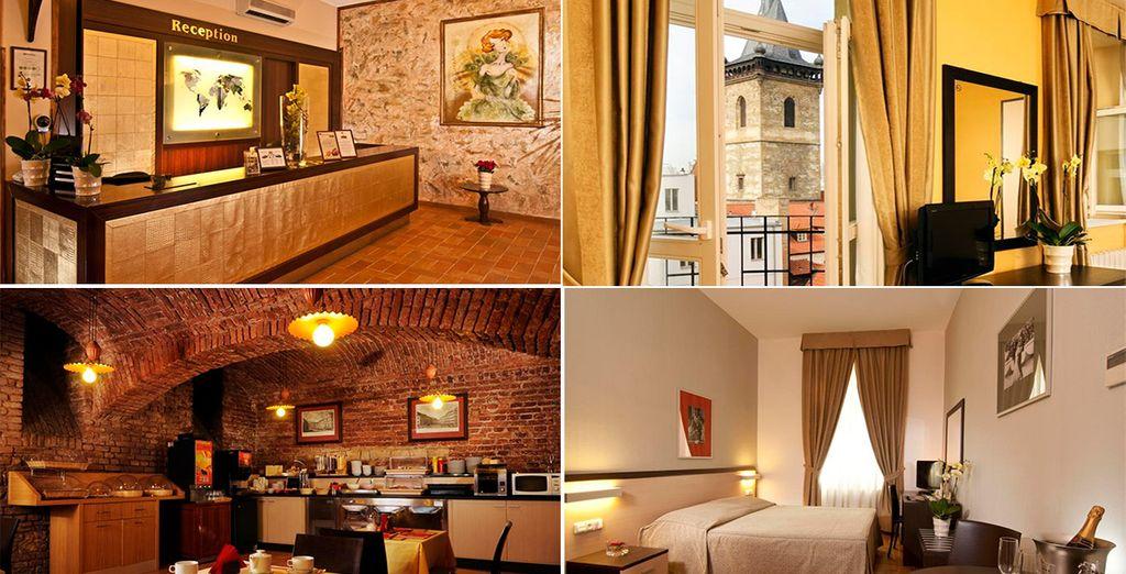 El Hotel Praga 1 4* goza de una ubicación ideal