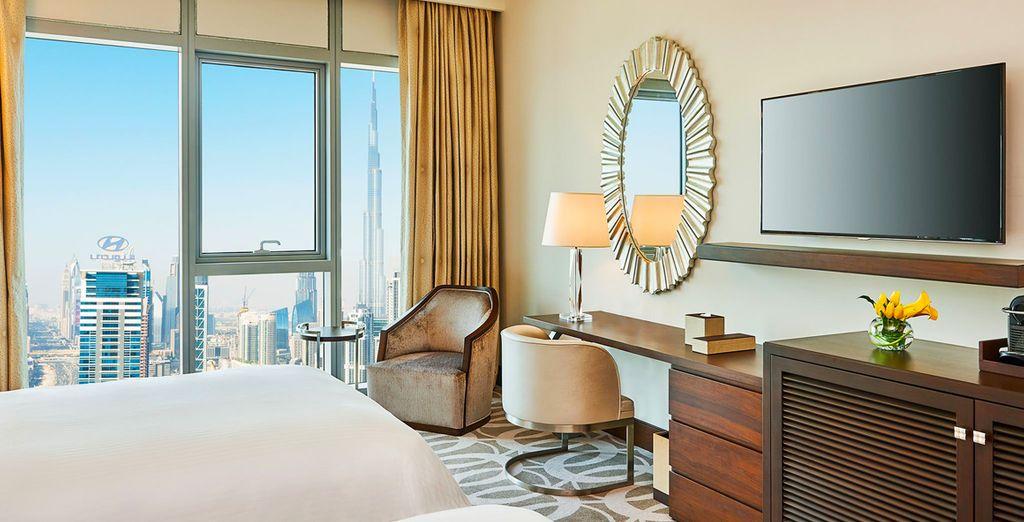Disfrutarás de estancia en una habitación Deluxe con vistas panorámicas